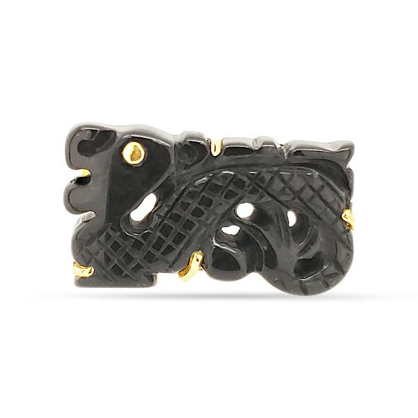 BLACK JADE GOLD RING