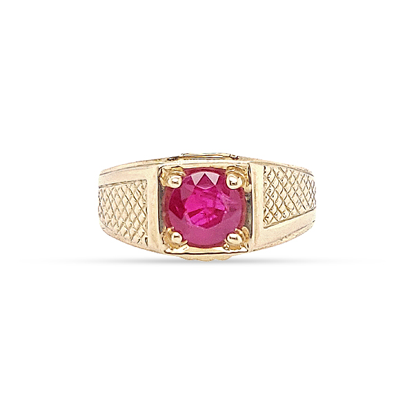 RUBY RING 14KT YELLOW GOLD